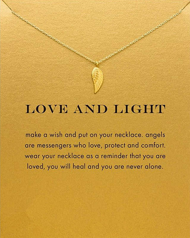 Sparkling love and light  wings Pendant necklace Clavicle Chains Necklace Women FOMALHAUT Jewelry XX-179
