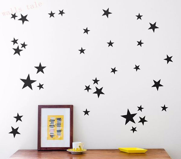 3sizes 150pcs sml star pattern bedroom wall stickers removable vinyl for french door bathroom bookcase fridge cabinet