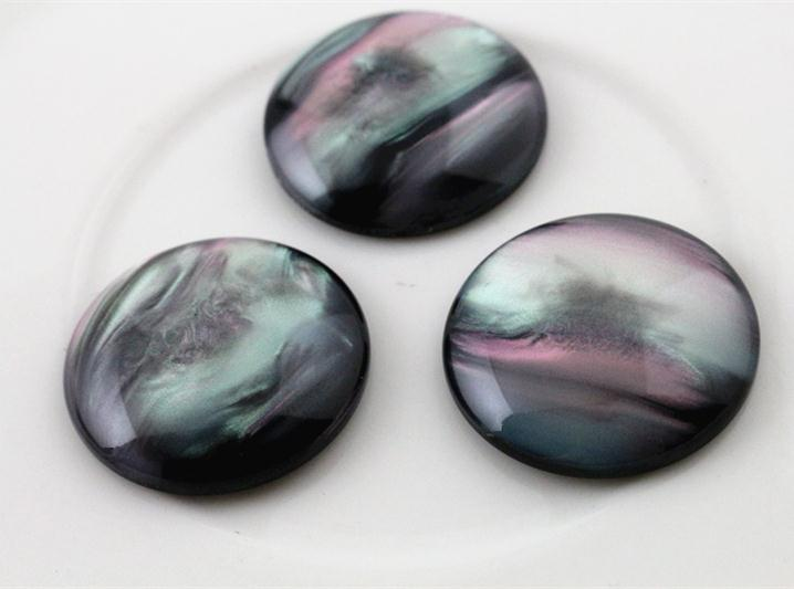 New Fashion 10pcs 25mm Black Color  Flat Back Resin Cabochons Cameo  G4-23
