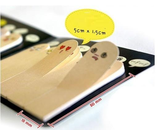 New Creative kawai Finger style Memo/Note Memo Pads /Message Post/Writing Scratch Pad/bookmark/Gift