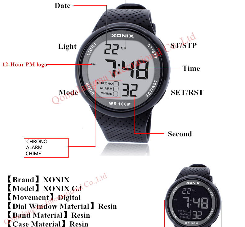 HTB15vx RpXXXXcaXFXXq6xXFXXXH - XONIX Sport Watch for Men