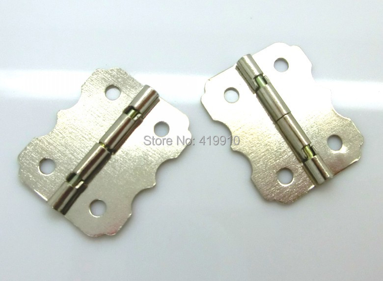 Free Shipping-50pcs Silver Tone 4 Holes Box Butt Hinges 24x20mm J1792 free shipping 50pcs mje15033g 50pcs mje15032g mje15033 mje15032 to 220
