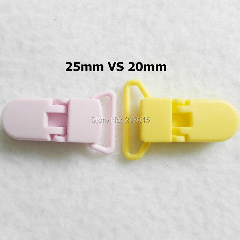 20 цветов) DHL 200 шт. 20 мм КАМ Пластик маленьких Соски NUK MAM пустышка Chain Зажимы чулок Зажимы