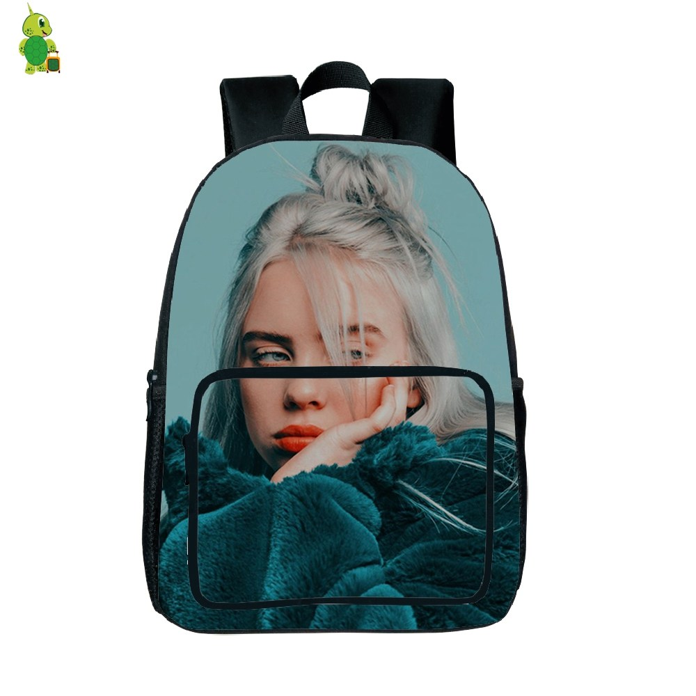 Unisex Billie Eilish Backpack Student School Bag Bookbag Rapper Singer Travelbag