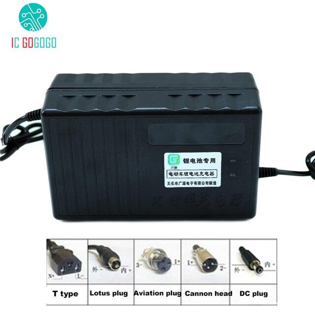 Chargeur de batterie au Lithium 60V 10A ebike Li ion Lipo Lifepo4 Li ion 16S 20S 21S 67.2V 71.4V 76.6V rapide pour moteur de vélo électrique