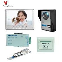 "Yobang Security Freeship Video Door Phone System Visual Intercom Doorbell 7"" TFT Color LCD one Monitor Outdoor Infrared Camera"
