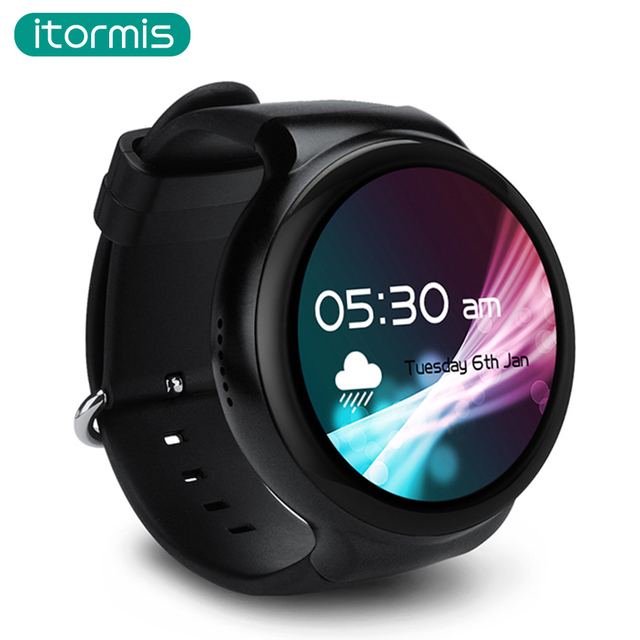 Itormis Bluetooth Smart Часы SmartWatch ОС Android 5.1 quad-core MTK6580 ОЗУ 1 г ПЗУ 16 г 3G GPS wi-Fi для Android IOS PK kw88 W04