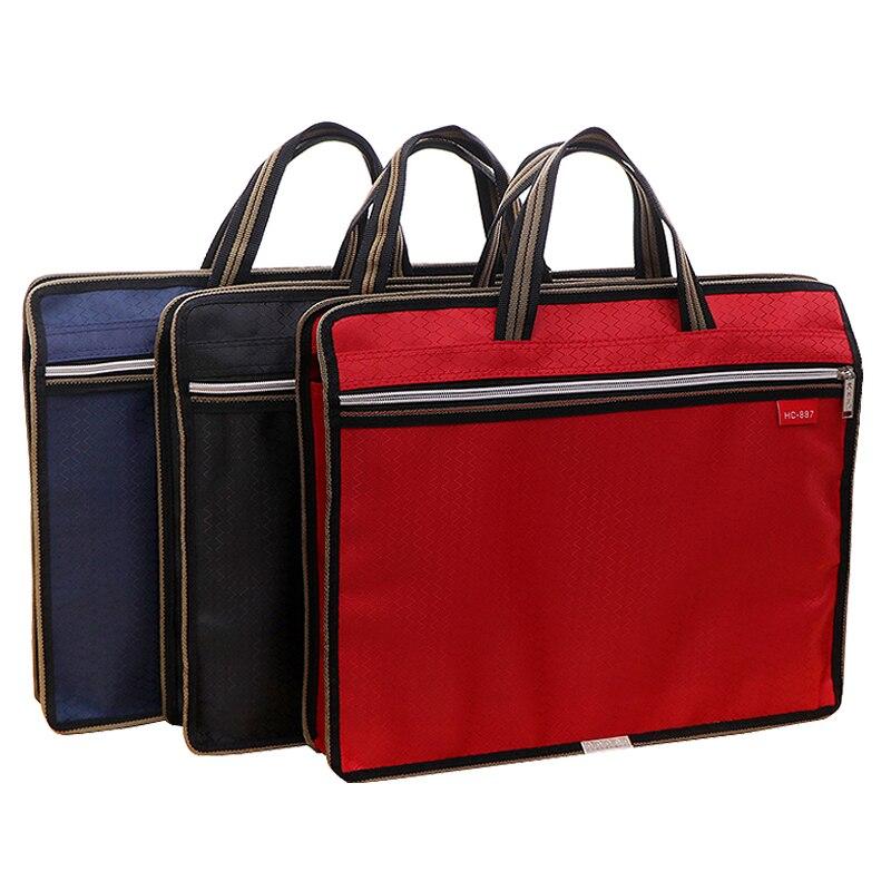 Portable File Bag A4 Student Textbook Data File Pocket Multifunctional Waterproof Portable Office File Bag Portable Laptop Bag