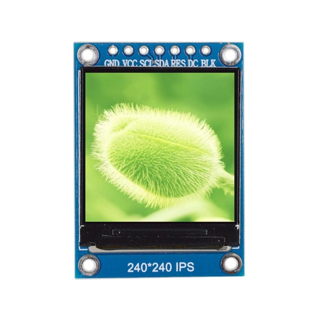 WAVGAT TFT Display 0.96 / 1.3 inch IPS 7P SPI HD 65K Full Color LCD Module ST7735 / ST7789 Drive IC 80*160 240*240 (Not OLED) 5
