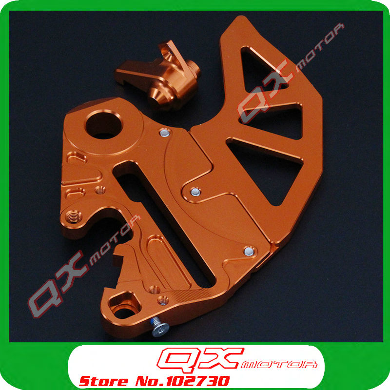 CNC Billet Rear Brake Disc Guard Brake Disc Adaptor Caliper Bracket for SX SXF XC XCW XCF EXC EXCF EXCR 125-530 Motorcycle motorcycle front brake disc rotor guard brake cover brake protector for ktm 125 530 sx sxf xc xcf 03 14 125 530 exc excf 03 15