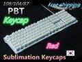 Nueva Llegada 108/104 teclas PBT keycap para OEM Perfil Keycaps teclado Gaming Mecánica MX de la Cereza interruptor versión Coreana