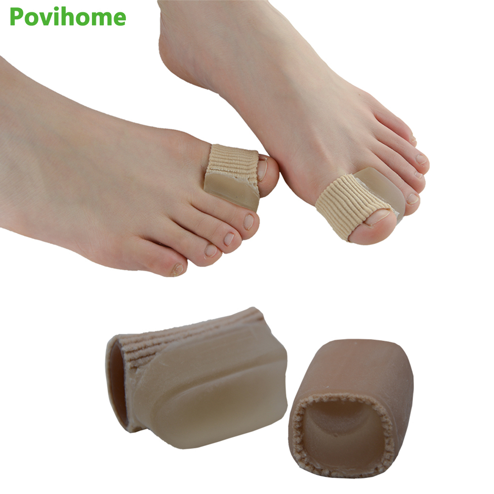 2Pcs Silicone Gel Toe Separator , Massage Nursing Toe Straightener Relief Hallux Valgus Pain & Friction Pressure Feet CareZ39201