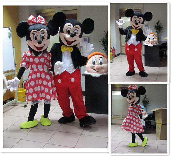 Minnie Mickey Mascot Costume Cartoon Character Birthday Party Fancy Cosplay Dress Adult