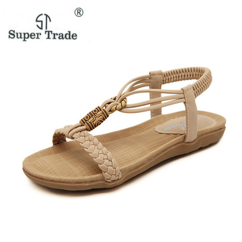 2018 New Summer Beach Slipper Flip Flops Sandals Women Mixed Color Casual Sandals Shoes Flat Free Shipping Plus Size ST485-1 free shipping summer shoes women sandals beaded bohemian flip flops sandals beach shoes for women