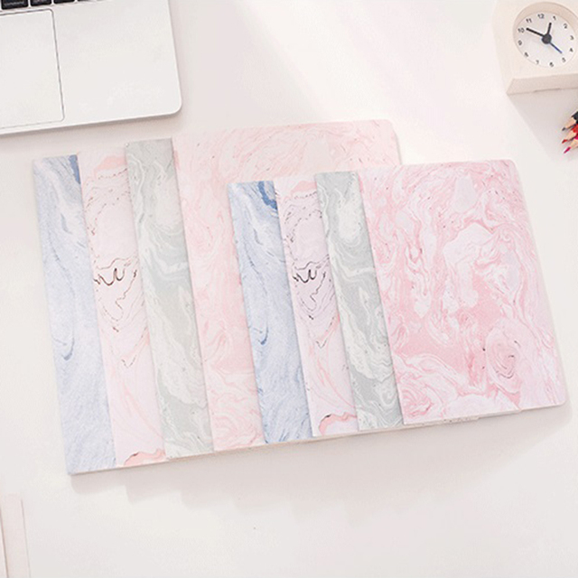 B5 A5 Cute Pink Notebook Paper Elegant Marble Lined Paper Journals