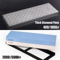 Sale 2pcs diamond white corundum whetstone knife sharpener sharpening stone 400/1000 2000/5000 grit fine grind
