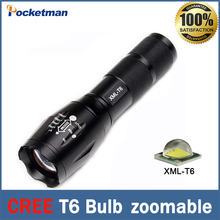 Cree T6 LED Flashlight 2000 Lumens Zoomable Varifocal LED Torches 3*AAA/1×18650 For Camp Hunt Fishing
