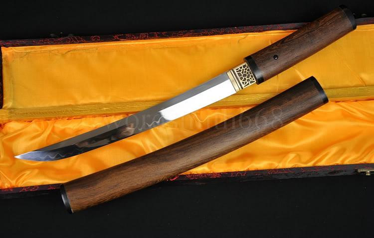 1095 yüksək karbon polad gil Tempered Yapon Samurai Qılınc TANTO - Ev dekoru - Fotoqrafiya 2