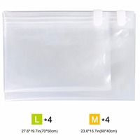 Lifewit 8 Pack Vacuum Storage Bags Premium Transparent Border Foldable Extra Large Travel Saving Space Clothes