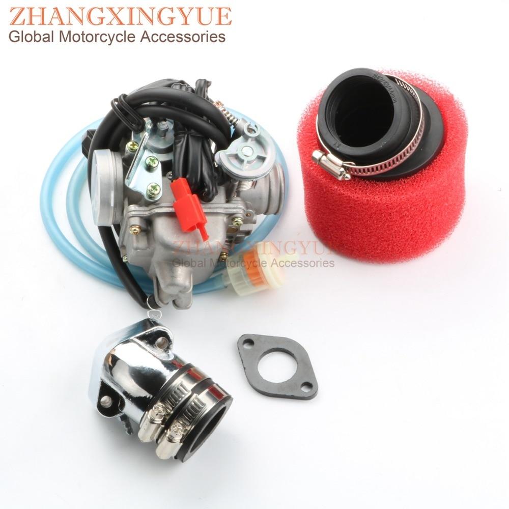 PD24J карбюратор 42мм высокая производительность воздушный фильтр и модифицированный коллектор для gy6 125cc мотоцикла передачей 150cc 152QMI 157QMJ ATV Скутер