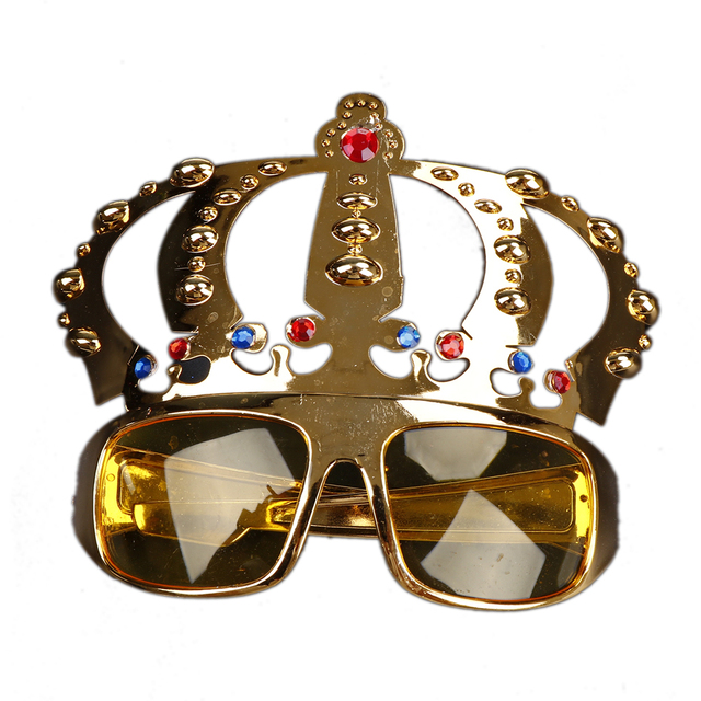 e73004d3e50 Electroplating Sunglasses For Birthday Gift Crown With Jewel For Hen Party  Costume Glasses Party Supplies Decoration
