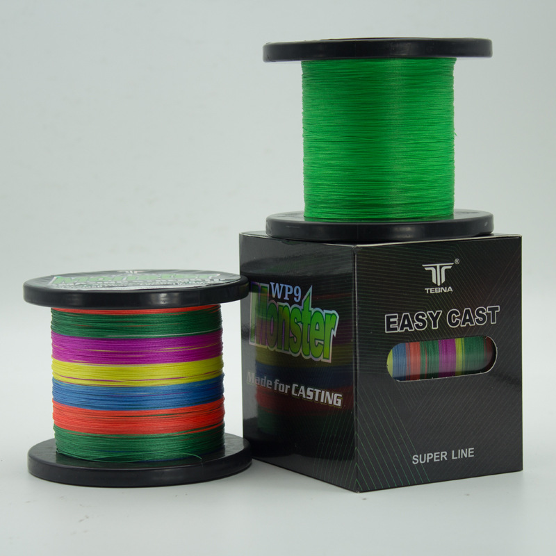 Fishing Gear 9 Strands Braided Fishing Line Super Stiff and Strong Multicolored PE Braided 500M Sea Fishing Line Best Quality