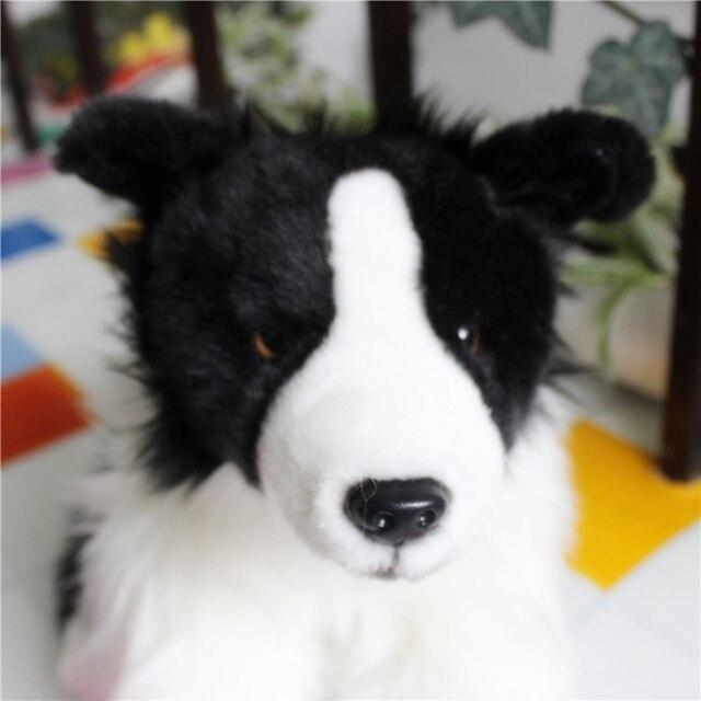30cm Quality Cute Soft Animal Border Collie Plush Toy Mini Pet
