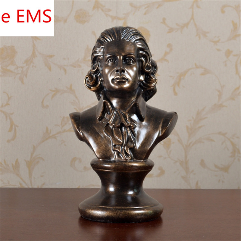 все цены на Wolfgang Amadeus Mozart Bust Requiem Aeternam Statue Classical Period Resin Craftwork Home Decorations Art Material L2354 онлайн