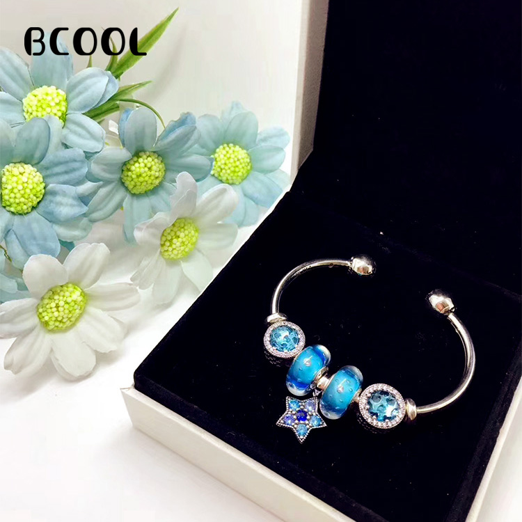 BCOOL DIY Jewelry Female Charm Fashion Silver 925 Original Bracelet, High-quality Star Crystal Jewelry Bracelet Jewelry GiftBCOOL DIY Jewelry Female Charm Fashion Silver 925 Original Bracelet, High-quality Star Crystal Jewelry Bracelet Jewelry Gift