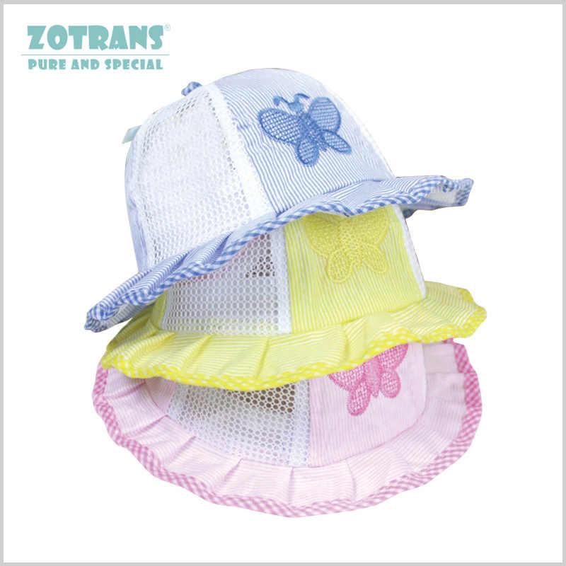 Baby Bonnet Summer Hat Newborn Princess Girls Hat Sun NET Cap Butterfly Bucket  Boys Hat Panama cc66f573e42d