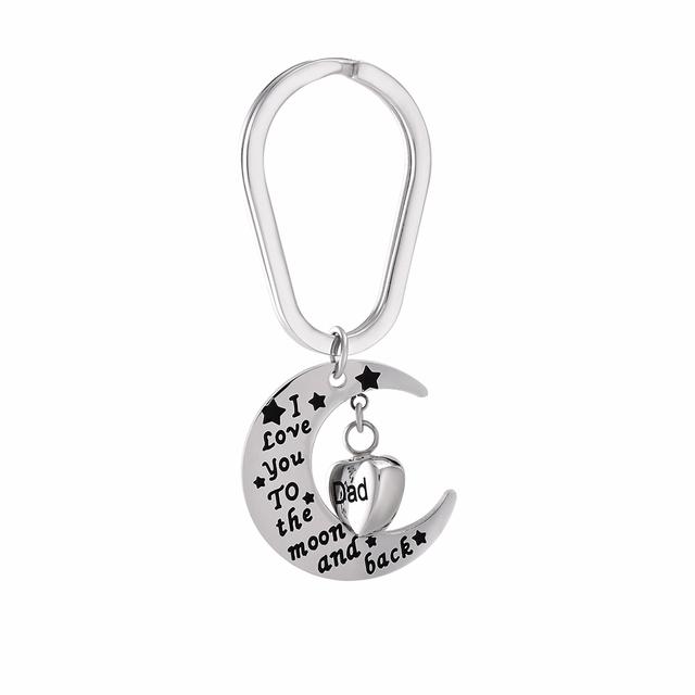 I Love You Dad Urn Keychain