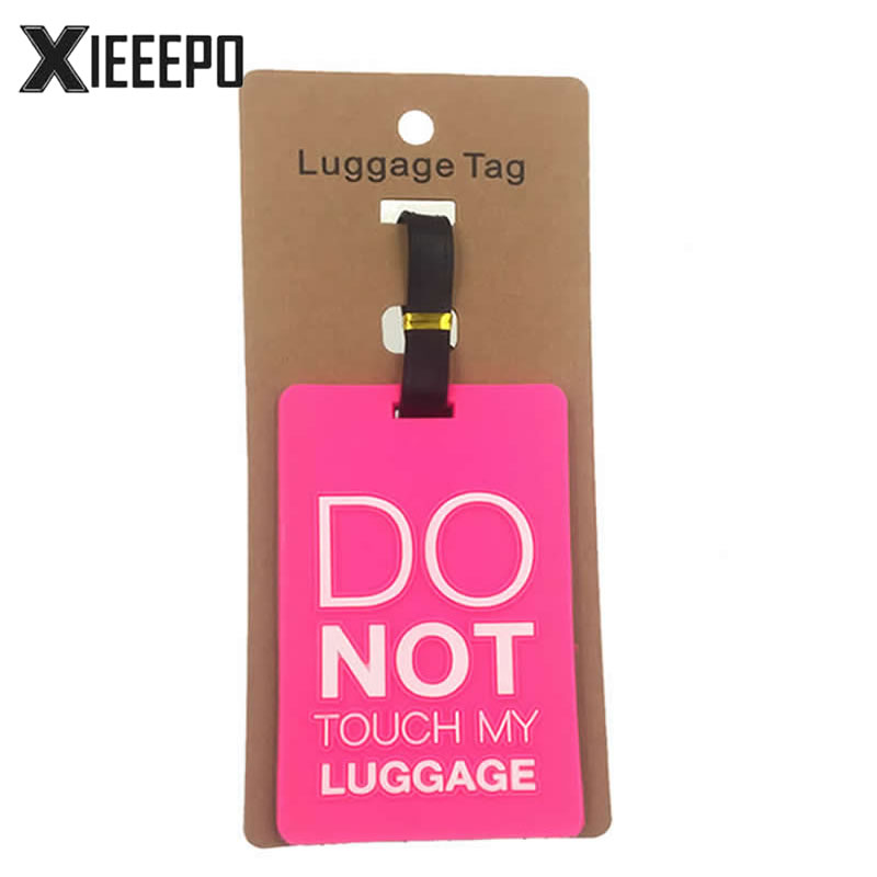 Travel Accessorles DO NOT Luggage Tag Fashion Creative Silica Gel Suitcase Id Address Holder Baggage Boarding Tag Portable Label