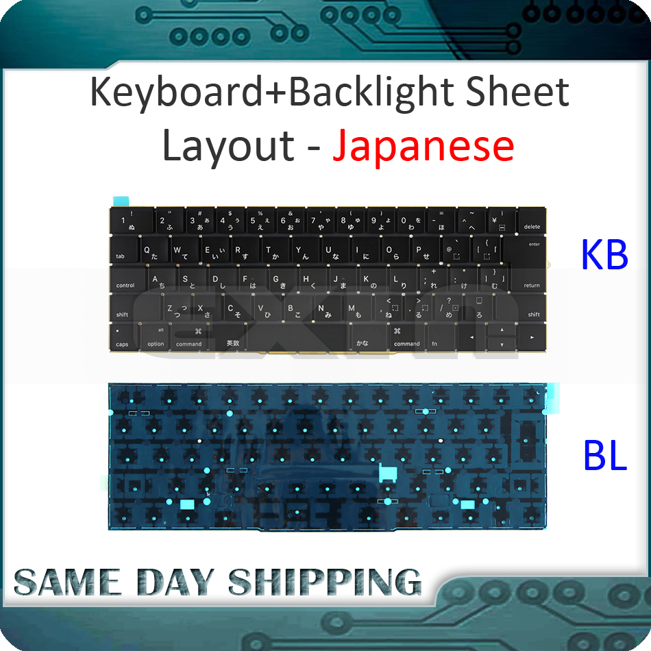 New for Macbook Pro Retina 15'' A1707 Keyboard Japanese Japan JP w/ Backlight Backlit EMC3072 EMC3162 Late 2016 Mid 2017 Year