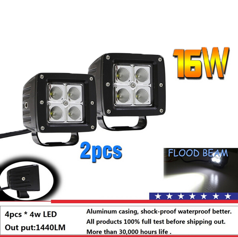 16w LED Work Light Flood Spot Beam High Power Off Road Lamp for SUV Boat 4x4 Lamp 4WD ATV Fog Lights Driving Headlight