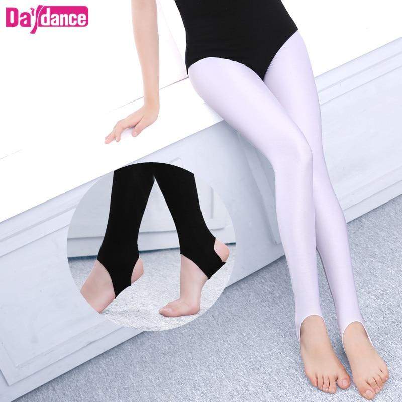 Girls Kids Ballet Stirrup Tights Pantyhose Child Dance Leggings Cotton Spandex Yoga Gymnastics Dance Pants
