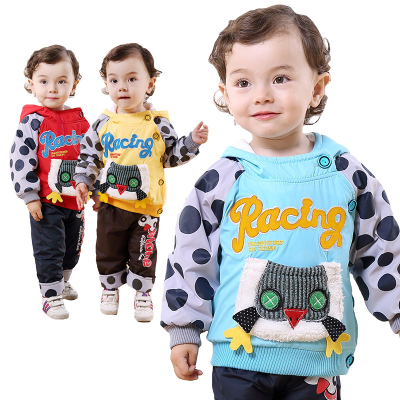 Anlencool brand baby clothes set Korean version of new autumn and winter baby's clothing owl quilted models baby clothing