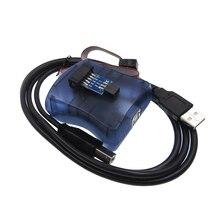 1 pièces AVRISP Atmel STK500 AVR programmeur USB Atmaga atminuscule + carte adaptateur 6 broches