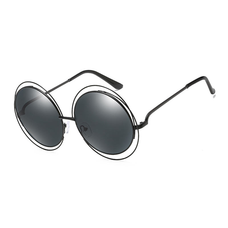 TSHING RAY Big Circle Round Frame Sunglasses For Women Bicyclic Female Fashion Personality Oculos Feminino Oversized Sun Glasses