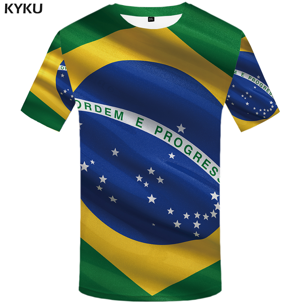 KYKU Brand Brazilian flag   T     shirt   Brazilian flag   T  -  shirt   3d   t  -  shirt   anime femme male   shirt   styles   t     shirt   men funny mens clothes