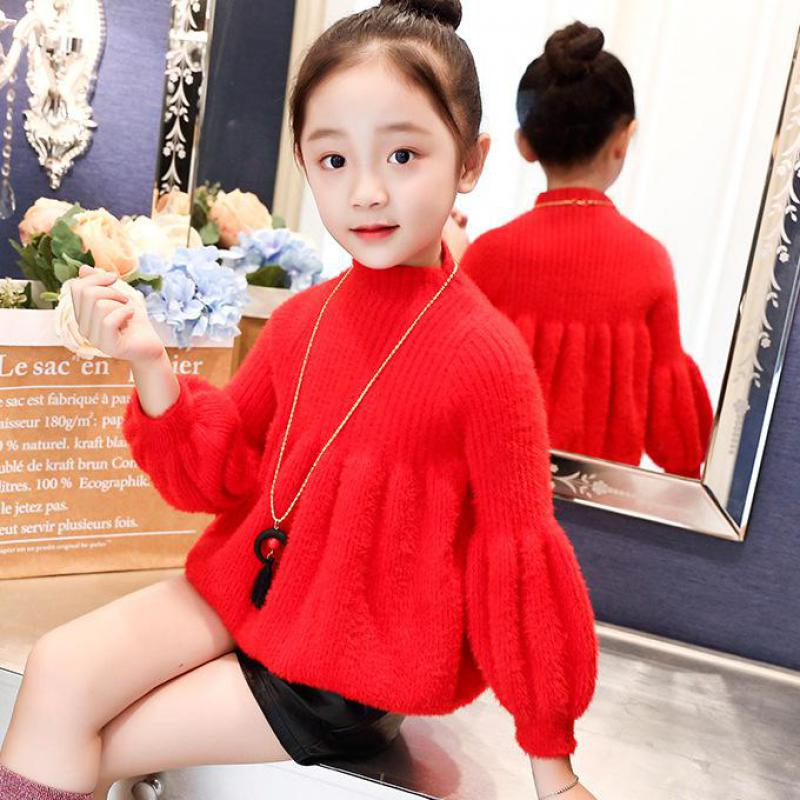 Sweaters For Girls Autumn Knitted Girls Sweater O-neck Girls Top Christmas Gift Winter Teen Kids Girls Clothing Cardigan Costume christmas knitted sweater cardigan for girls autumn winter winter kids pullover deer clothing children sweater 10 years 12 14 page 9