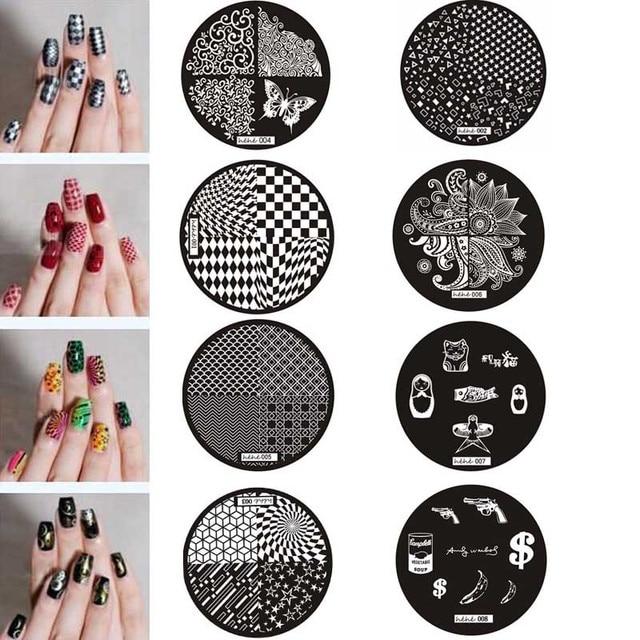 Mejor oferta chica patrón uñas arte imagen sello estampado placas manicura plantilla plantillas para accesorios de uñas carimbo de unha