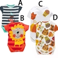 2015 newborn baby clothes baby boy bodysuit Leotard Triangle package hip bodysuit Four kinds of animal print Leotard