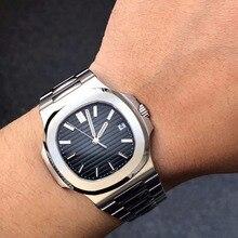 Black Top luxury brand Mens Watch Stainless Steel Watch quartz 30m waterproof Sports Watch Designer Wristwatch for men dropship