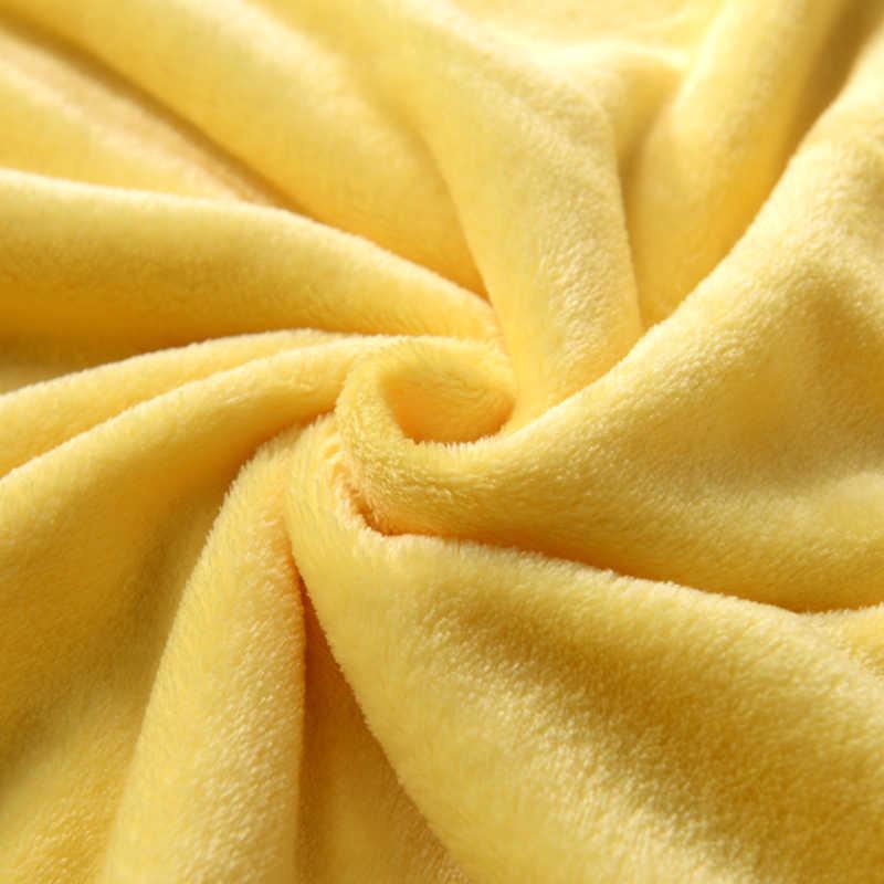 Многоразмерное одеяло на кровати, мягкое осенне-весеннее Флисовое одеяло для дивана, желтое фланелевое одеяло, теплое однотонное покрывало