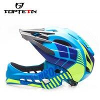 2 10 Year Old Full Covered Kid Helmet Balance Bike Children Full Face Helmet Cycling Motocross Downhill MTV DH Safety Helmet BMX
