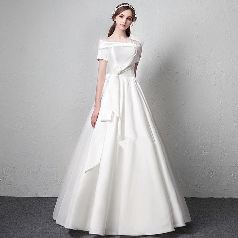 Cheap Wedding Dresses Colorado Springs: Short Sleeves Vestido De Noiva 2019 Muslim Wedding Dresses
