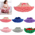 Many colors Baby girls tutu Fluffy Chiffon Pettiskirts Baby Girls Princess dance party Tulle tutu Skirt petticoat wholesale