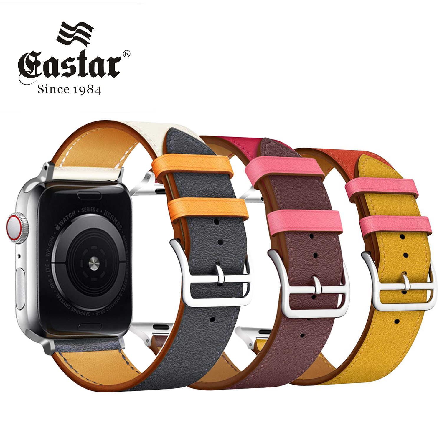 Eastar High quality Leather loop for Apple Watch Band Series 3/2/1 Sport Bracelet 42 mm 38 mm Strap For iwatch 4 Band 40mm 44mm