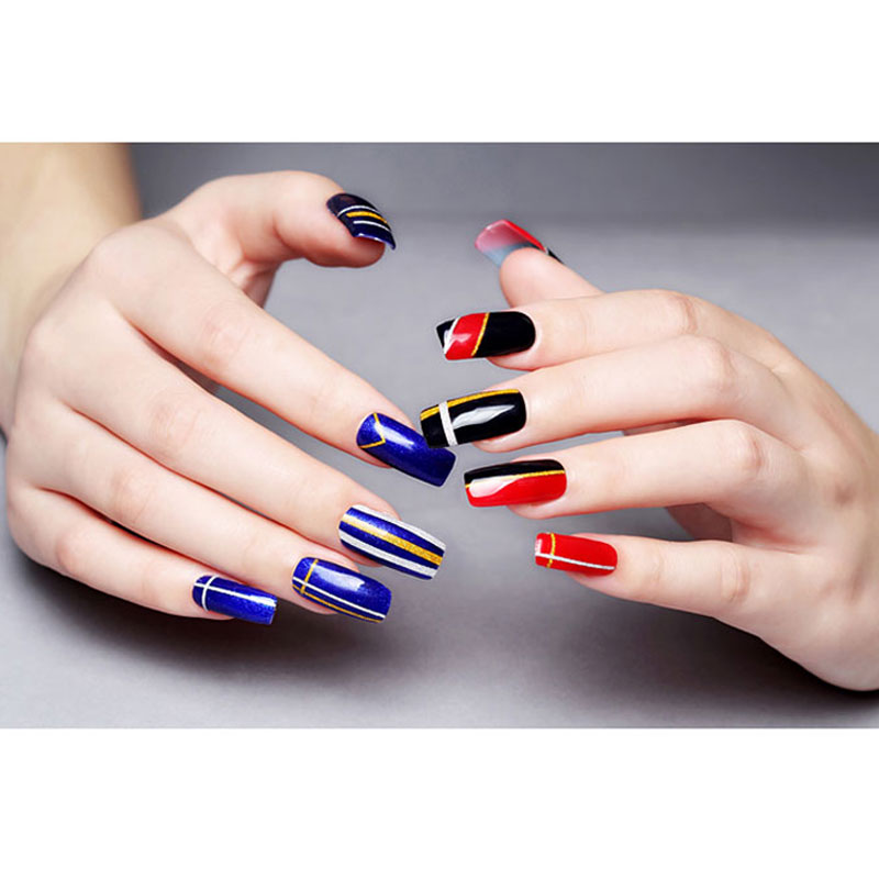 10 Rolls Glitter Nail Art Striping Tape Line Sticker Tips