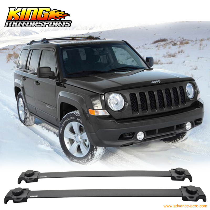 For 2007-2015 Jeep Patriot OE Style Roof Rack Cross Bar 2PCS Black Aluminum